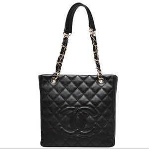 CHANEL Caviar Quilted Timeless Shopping Tote PST